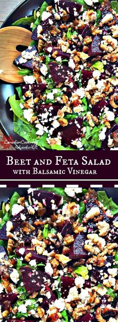 Beet and Feta Salad! Fresh is best with this one :) Beet and Feta Salad with Balsamic vinegar is packed with flavor and works so good aside any holiday meal. Beet and Feta Salad Veggie Dishes, Vegetable Recipes, Vegetarian Recipes, Healthy Recipes, Vegan Vegetarian, Cod Recipes, Ramen Recipes, Vegan Beet Recipes, Juicer Recipes