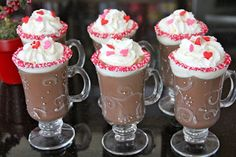 This isn't really a recipe, more of just a fun tip for decorating glasses for St. Valentine's Day Cocoa. I already posted about it at Shower of Roses, but I thought I'd go ahead and share it here too. -- from Catholic Cuisine