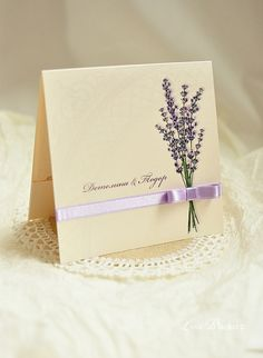 Lavender Wedding Invitation by LoveBlanketWedding on Etsy. See more on the blog: http://www.imperatrizata.blogspot.com/