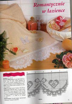 web Filet Crochet, Crochet Lace Edging, Crochet Borders, Crochet Diagram, Crochet Chart, Thread Crochet, Crochet Trim, Love Crochet, Irish Crochet
