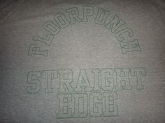 Vintage Floorpunch Straight Edge T Shirt Hardcore New Jersey NYHC Original Early 1990s Yout of Today Fugazi Turning Point Judge Punk Tee