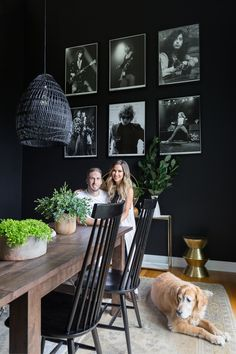 Tour The Bachelorette Kaitlyn Bristowe and Shawn Booth's Rock n' Roll Farmhouse Rock N Roll Living Room, Rock Room, Dining Room Walls, Dining Room Design, Dining Room Furniture, Dark Dining Rooms, Dinning Room Wall Decor, Kitchen Decor, Casa Rock