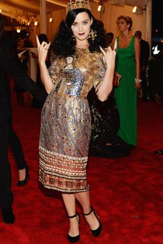 Katy Perry wears Dolce & Gabbana @ @ The Met Gala Red Carpet 2013.