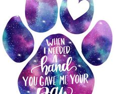 Dog lover Customizable Watercolor Paw Print lettering by KatraCreates on Etsy