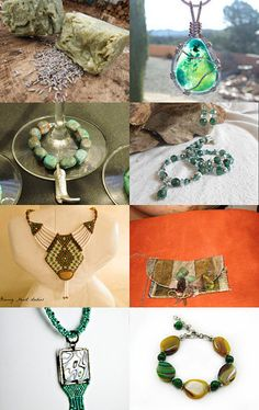 In The Theme of Green by Sandy Cervera on Etsy--Pinned with TreasuryPin.com