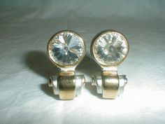 alexis kirk earrings crystal two tone by qualityvintagejewels, $85.00
