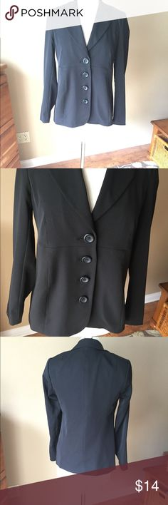Motherhood Maternity Black Jacket Blazer Maternity blazer in black. Fabric tags shown in photo. Shown on Size 6/8 mannequin (mannequin measures 37-26-37.) 👠👗👜 Check out $6 section of closet, before sold items. All $6 items final price unless bundled. 15% bundle discount. 🚫NO MODELING 🚫NO TRADES Motherhood Maternity Jackets & Coats Blazers