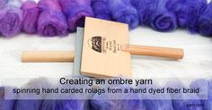 Spinning Tips – making a gradient from a hand dyed braid Spinning Yarn, Hand Spinning, Yarn Needle, Needle Felting, Ombre Yarn, Webs Yarn, Drop Spindle, Yarn Store, Knitting Yarn