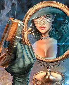 Fantasy Art Women, Beautiful Fantasy Art, Dark Fantasy Art, Female Character Design, Character Art, Dibujos Pin Up, Comic Art Community, Comics Girls, Pulp Art