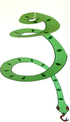 Made springy snakes for our history project - since legend holds that St. Patrick drove the snakes out of Ireland.