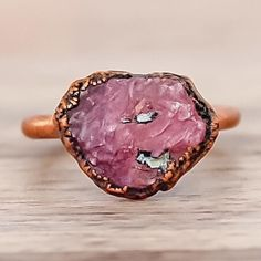 Raw Ruby and Copper Ring || Available in our 'Gems and Stones' Collection || www.indieandharper.com