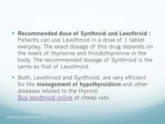 The comparison between the 2 commonly used medicines, Levothroid and Synthroid, for treating thyroid diseases is provided in this video.For more info visit http://www.buylevothroid.com