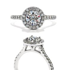 Hearts on fire engagement ring.
