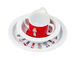 F:RG&FORM Tiny Princess Melamine Dinner Sets designed by Karin Mannerstal.  Now available at Northlight Homestore