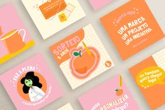 Identidade Visual / Bêrga @bergatees on Behance Graphisches Design, Graphic Design Tips, Graphic Design Posters, Graphic Design Typography, Graphic Design Inspiration, Logo Design, Instagram Design, Art Graphique, Grafik Design