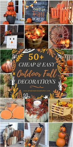 Diy fall crafts 433401164136815784 - 50 Cheap and Easy Outdoor Fall Decorations Source by Fall Projects, Diy Home Decor Projects, Fall Home Decor, Decor Ideas, Dyi Fall Decor, Fall Yard Decor, Rustic Fall Decor, Seasonal Decor, Diy Ideas