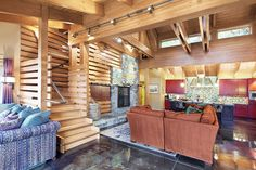 Concrete Floored Abode - a cabin on Lake Wenatchee - contemporary - living room - seattle - Gelotte Hommas Architecture