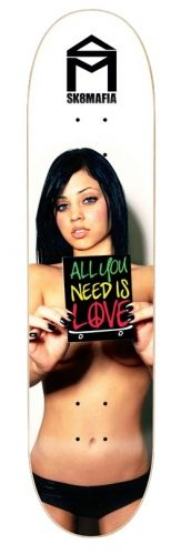 Gabby All You Need Is Love skateboard deck by Sk8 Mafia 8.19