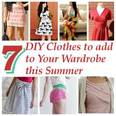 diy home sweet home: 7 DIY Clothes to add to Your Wardrobe this Summer