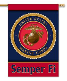 Take a look at this US Marine Corps Two-Sided Banner by BSI Products on #zulily today!