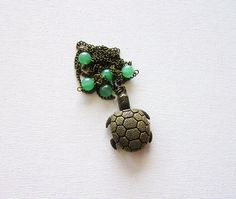 Turtle Watch Necklace turtle Pendant Working Watch Necklace