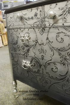 fabulous_finishes_ombre_grey_chalk_clay_paint_chest or something like this