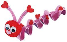 Valentine Inchworm Craft- I love the pom pom & the pipe cleaner. Freat sensory craft for children. The pom pom can be replaced with a lollipop.