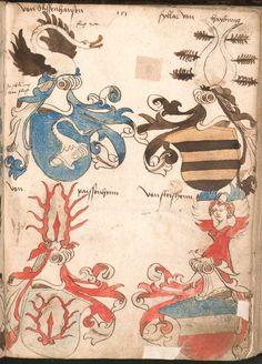 Wernigeroder (Schaffhausensches) Wappenbuch Süddeutschland, 4. Viertel 15. Jh. Cod.icon. 308 n  Folio 151r
