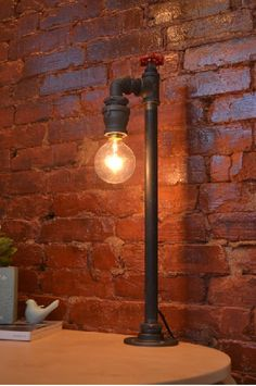 Table Light - Table Lamp - Steampunk Light - Industiral Light - Lighting - Childrens Light - Night Light - Industrial Table Lamp