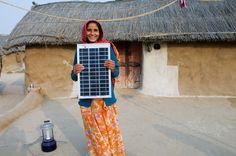 Legga village solar electrified by woman barefoot solar engineers, India, Rajasthan.