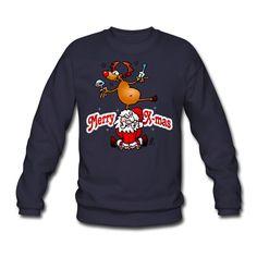 Merry X-mas Sweater. #Christmas #Xmas #Sweater #Santa #Reindeer #Spreadshirt #Cardvibes #Tekenaartje #SOLD