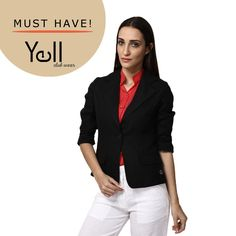 It's that time of the year when black doesn't make you feel hot anymore. Sport this Black blazer from Yell at work or during a day out with friends!