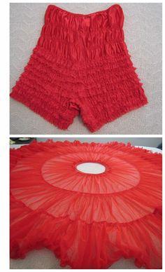 Vintage Sams Square Dance Red Petticoat Panty & Crinoline / Half Slip / Costume #Sams