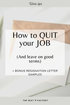 If your work isn't aligned with your desires and expectations, it's time to quit your job. Now - How to do so professionally and on good terms?