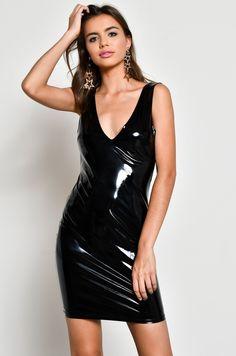 Black Pvc Mini Skirt Vinyl Leather Look Ladies Girls Short Kilt High Waist 015