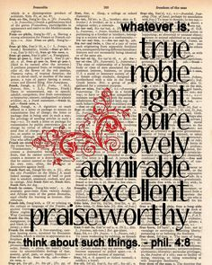 Philippians 4:8-would be adorable in a frame!