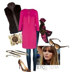 ONE AMAZING DRESS, MANY WAYS TO WEAR:  You love the dress, because it's one and done - a complete look. Now just decide.... DETAILS:http://www.etcetera.com/collections/boutique/detail/212433/