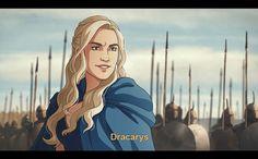 Here's the proof Game of Thrones would make a great animated series Jon E Daenerys, Daenerys Targaryen Art, Khaleesi, High Fantasy, Fantasy Art, Science Fiction, Got Anime, Game Of Thones, Fandom Games
