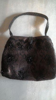 Piccola borsa da sera con pizzo e perline-borsa a mano-pezzo unico- 449385b3cc9