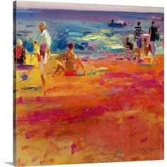 Canvas On Demand Scene de Plage by Peter Graham Painting Print on Canvas Size: