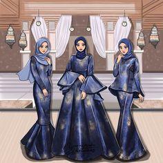 New art sketches fashion dresses ideas Dress Design Sketches, Fashion Design Sketchbook, Fashion Design Drawings, Fashion Sketches, Art Sketches, Muslim Fashion, Hijab Fashion, Fashion Art, Fashion Drawing Dresses