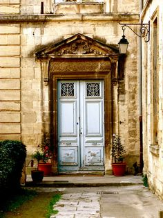 """the blue door"" montpellier, france."