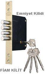 Güvenliginiz için ikinci kilit olarak fiam anahtarlı kilidi tercih edebilirsiniz