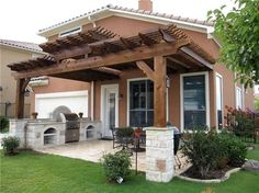 Wood Patio Cover, Attached Pergola Pergola and Patio Cover 5 Star Outdoor Living McKinney, TX