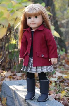 American Girl Doll Clothes Red Are We There Yet by NoodleClothing