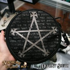 Last Chance! Alchemy Gothic LG73 Magic Purse - Leather & Canvas  A Cabalistic pentagram shrouds the ancient passage from the Holy Zohar, with a prophetic message on the interpretation of truth from dreams.