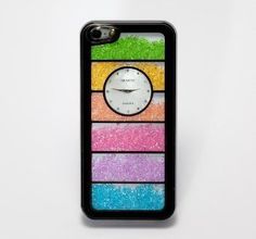 Dealinthebox Luxury Swarovski Crystal Bling Back Cover Case with Clock for iPhone 5