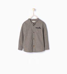 Рубашка в клетку с воротником мао-Рубашки-Мальчики | 4-14 лет-ДЕТИ | ZARA Российская Федерация