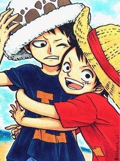 Trafalgar Law, Luffy, One Piece