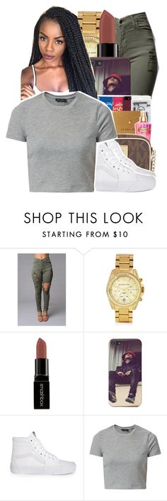 """⚡️"" by ayeeitsdessa ❤ liked on Polyvore featuring Michael Kors, Smashbox and Vans"